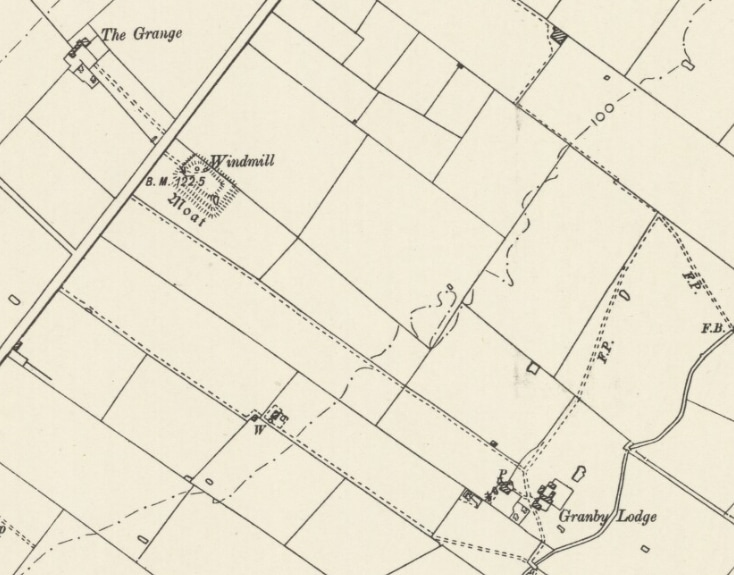 photographic extract of 1899 Ordnance Survey map of Sutton Lane