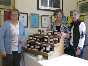 photograph of Women's Institute members and jam stall