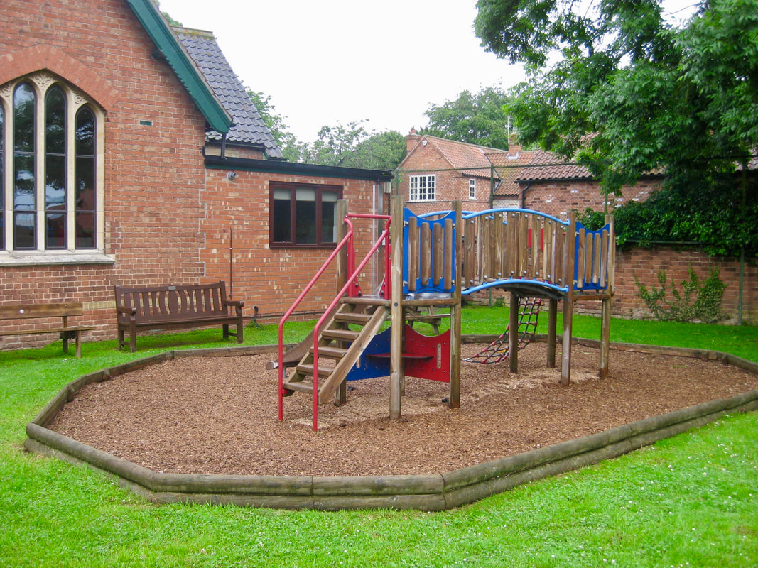 Photograph of children climbing frame in Granby.